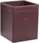 Classic Leather Square Waste Basket - Chocolate Brown [A3403-FS-DAC]