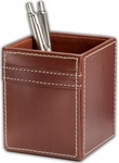 Rustic Leather Pencil Cup - Brown [A3210-FS-DAC]