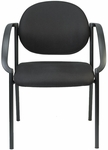 Dakota 24'' W x 24.4'' D x 33'' H Curved Arm Stack Chair - Black [9011-AT33-FS-EURO]