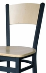 Dale Metal Frame Chair - Wood Back and Seat [2150CW-BFMS]