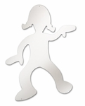 Shatter Proof Acrylic Dancing Girl Silhouette Mirror [WB0310-FS-WBR]