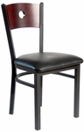 Darby Metal Frame Chair - Circle Wood Back and Vinyl Seat [2152CBLV-SB-BFMS]