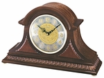Dark Brown Solid Oak Mantel Clock with Chime [QXJ003BLH-FS-SEI]