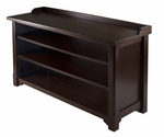 Dayton Storage Hall Bench with Shelves [94841-FS-WWT]
