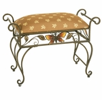 Decorartive Metal Butterfly Bench [2507-FS-PAS]