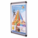 DecoVue Easy to Open Aluminum Snap Frame Poster Board with Clear Anti-glare Acrylic Cover [DVS1824-GHE]