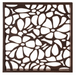 Deep Brown Stained Wall Art w/ Floral Cutwork [37090-FS-HEC]