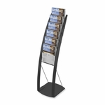 Deflect-O Floor Stand - 6 Compartments - 13'' x 16 1/2'' x 49'' - Black [DEF693104-FS-SP]