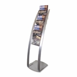 Deflect-O Floor Stand - 6 Compartments - 13'' x 16 1/2'' x 49'' - Silver [DEF693145-FS-SP]