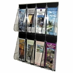Deflect-O Pamphlet Wall Rack -8 Pocket -18 1/4'' x 2 7/8'' x 23 1/2'' -Clear [DEF56201-FS-SP]