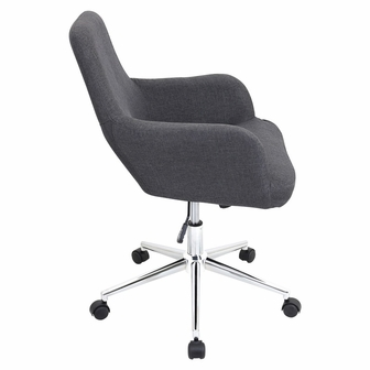 Degree Fully Adjustable Grey Fabric Swivel Office Chair OFC AC DGR GY By Lum