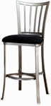 Delray Metal 30'' Bar Height Stool with Black Faux Suede Seat - Mission Pewter [4660-830-FS-HILL]