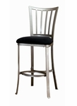 Delray Metal 26'' Counter Height Stool with Black Faux Suede Seat - Mission Pewter [4660-826-FS-HILL]