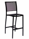 Delray Side Barstool - Black Batyline Seats & Back and Black Frame [PH102BBLBL-BFMS]