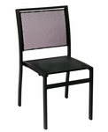 Delray Side Chair - Black Batyline Seats & Backs and Black Frame [PH102CBLBL-BFMS]