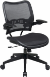 Space Deluxe Air Grid Seat and Back Chair with 2-to-1 Synchro Tilt and Cantilever Arms - Black [13-77N1P3-FS-OS]