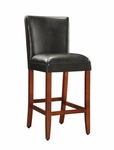 Deluxe Faux Leather Barstool - Black [559401-FS-DCON]