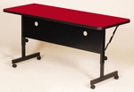 Adjustable Height Rectangular Deluxe High-Pressure Flip Top Table - 24''D x 60''W [FT2460-CRL]