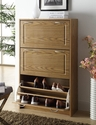 Deluxe Oak Double Shoe Cabinet
