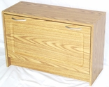 Deluxe Single Shoe Cabinet - Oak