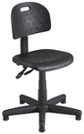 Soft Tough™ 25'' Dia. x 28.50 to 36.50'' H Deluxe Task Chair Articulating Seat and Back - Black [6902-FS-SAF]