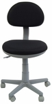 Deluxe Height Adjustable Task Chair with 5 Star Base and Casters - Black and Gray [18509-FS-SDI]