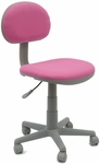 Deluxe Height Adjustable Task Chair with 5 Star Base and Casters - Pink and Gray [18510-FS-SDI]