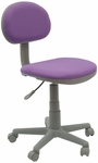 Deluxe Height Adjustable Task Chair with 5 Star Base and Casters - Purple and Gray [18516-FS-SDI]