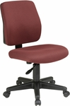 Work Smart Deluxe Upholstered Fabric Task Chair with Ratchet Back Height Adjustment [33101-FS-OS]
