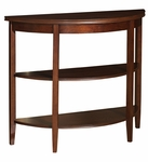 Demilune Console Table with Two Shelves in Shelburne Cherry [998-225-FS-PO]