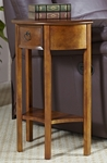 Favorite Finds 19''W x 28''H Demilune Hall Stand with One Drawer and Display Shelf [9030-FS-LCK]