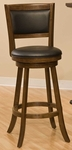 Dennery Wood 24'' Counter Height Stool with Brown Vinyl Swivel Seat - Cherry [4472-826-FS-HILL]