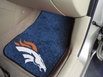 Denver Broncos Carpet Car Mat 2 Pc 18'' x 27'' [5717-FS-FAN]