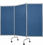 Designer 3 Panel Steel Frame Privacy Screen [3170-FS-WIN]