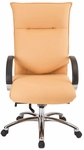 Bellagia 27'' W x 47'' H Adjustable Height High-Back Chair with Knee Tilt Control - Chrome Base [E-66581-KT-CB-FS-EOF]