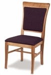 Solid Beechwood High Back Dining Chair with Contoured Web Seat [7241-MPL]