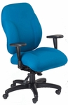 Phantom 24.5'' W x 26'' D x 41'' H Adjustable Height and Width High-Back Chair with Deluxe Control - Black Base [E-89882-FS-EOF]