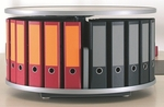 Moll 1 -Tier Desktop Rotary Binder Storage Carousel Shelving [DCL-80-FS-EOS]