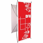 DFA Imports 3 Spring Back Single or Double Sided Banner Stand [SB-3-FS-OR]