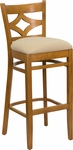 Diamond Back Bar Stool in Cherry Wood Finish [HTG-002-42-CHY-HC]