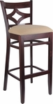 Diamond Back Bar Stool in Dark Mahogany Wood Finish [HTG-002-42-DKMHG-HC]