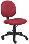Diamond Contoured Mid Back Task Chair - Burgundy [B9090-BY-FS-BOSS]