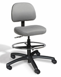 Dimension Small Back Mid-Height Drafting Chair - 2 Way Control [DMSM2-FS-CRA]