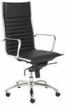 Dirk High Back Office Chair in Black [00675BLK-FS-ERS]