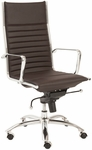 Dirk High Back Office Chair in Brown [00675BRN-FS-ERS]