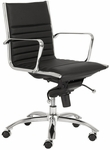 Dirk Low Back Office Chair in Black [00674BLK-FS-ERS]