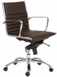 Dirk Low Back Office Chair in Brown [00674BRN-FS-ERS]