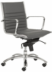 Dirk Low Back Office Chair in Gray [00674GRY-FS-ERS]