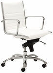 Dirk Low Back Office Chair in White [00674WHT-FS-ERS]