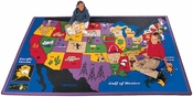 Discover America Map Rug
